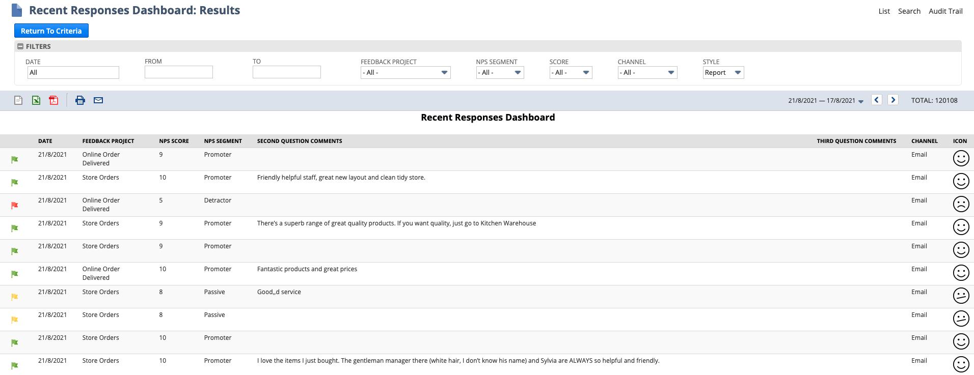 SuiteFeedback Dashboard in NetSuite